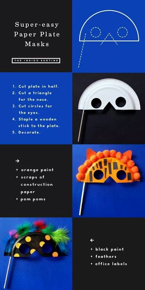 Cool paper plate masks