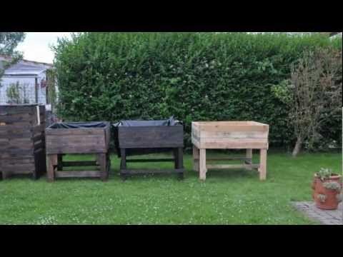 TUTO, fabriquer un bac à jardiner en bois de palette (incroyables comestibles)…