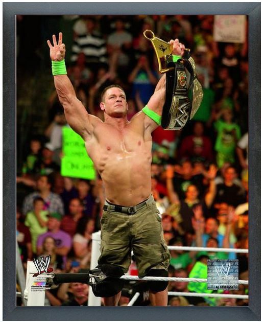 """John Cena 2014 Money in the Bank - 11"""" x 14"""" Photo in a Glassless Sports Frame"""