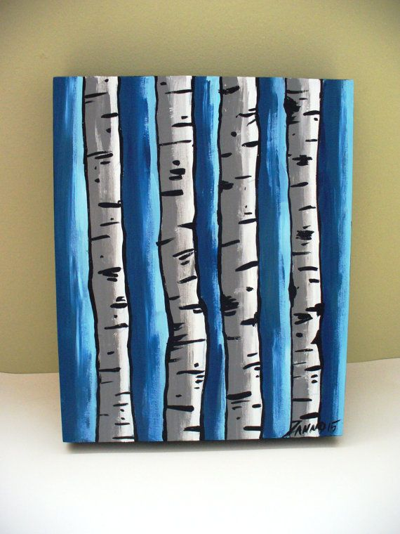 Check out this item in my Etsy shop https://www.etsy.com/listing/239017166/aspen-tree-painting-small-framed-art