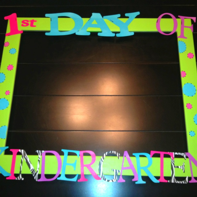 First day of kindergarten frame