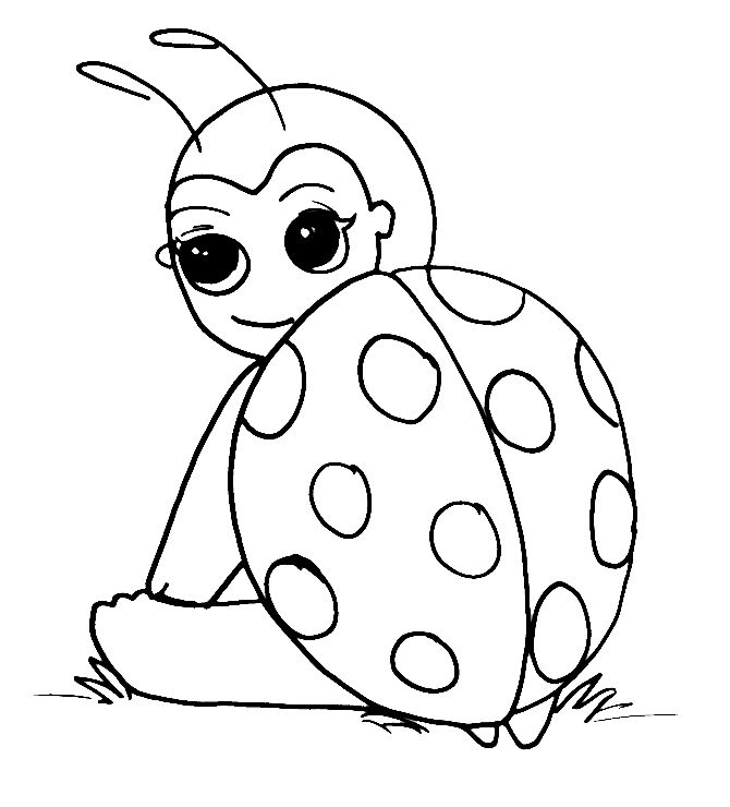 ladybug with no spots coloring page coloring pages