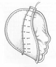 вариант кроя рельефной головы