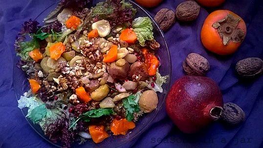 Seasons in a jar: Σαλάτα με κάστανα και λωτούς