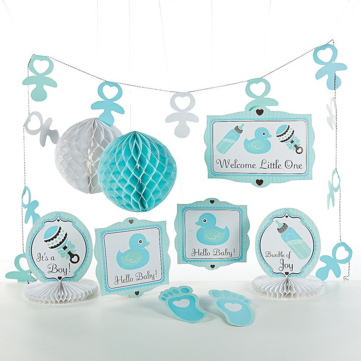 17 best images about baby shower ideas on pinterest for Baby boy shower decoration kits