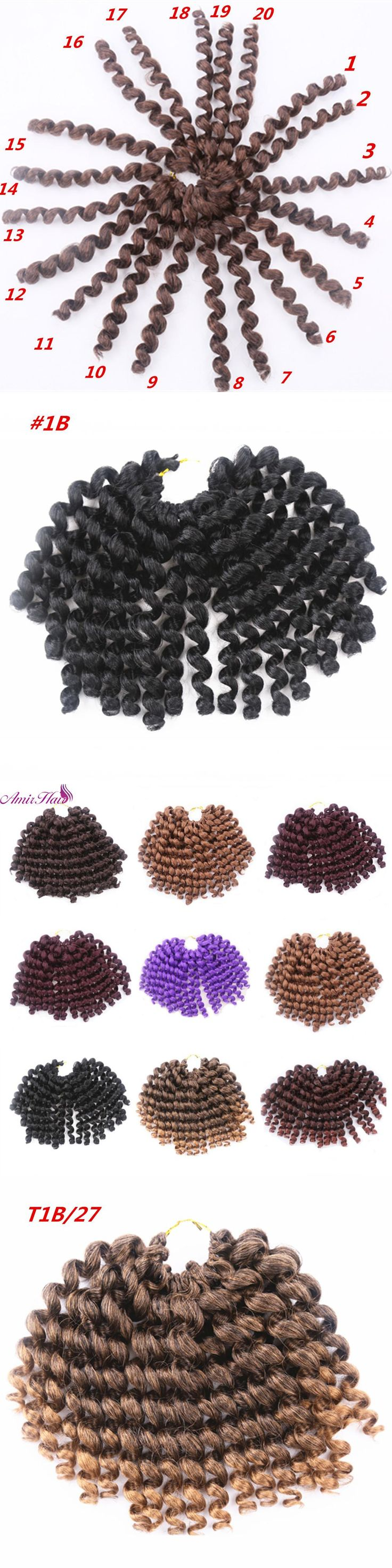 Amir Hair 10inch  Synthetic Curly Braiding Hair with 20 strands Short  Black and Blonde  Wand Curl Havana mambo Crochet  Braids
