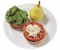 Burger With Feta and SpinachFeta Cheese, Spinach Recipe, Turkey Burgers, Veggies Burgers, Cups Spinach, Sandwiches Recipe, Healthy Lunches, Vegetarian Burgers, 400 Calories