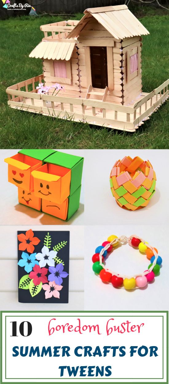 10 Summer crafts for tweens to do when bored