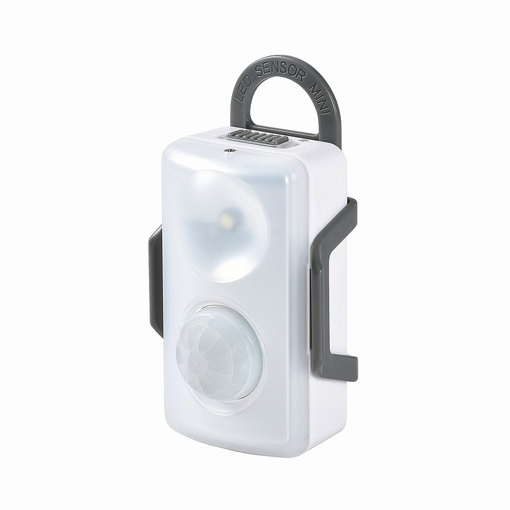 Welidea Bright Motion Detector Light with a Handy Little Hanging Bracket 5500K - Battery Powered for Many Places (1 Pack)