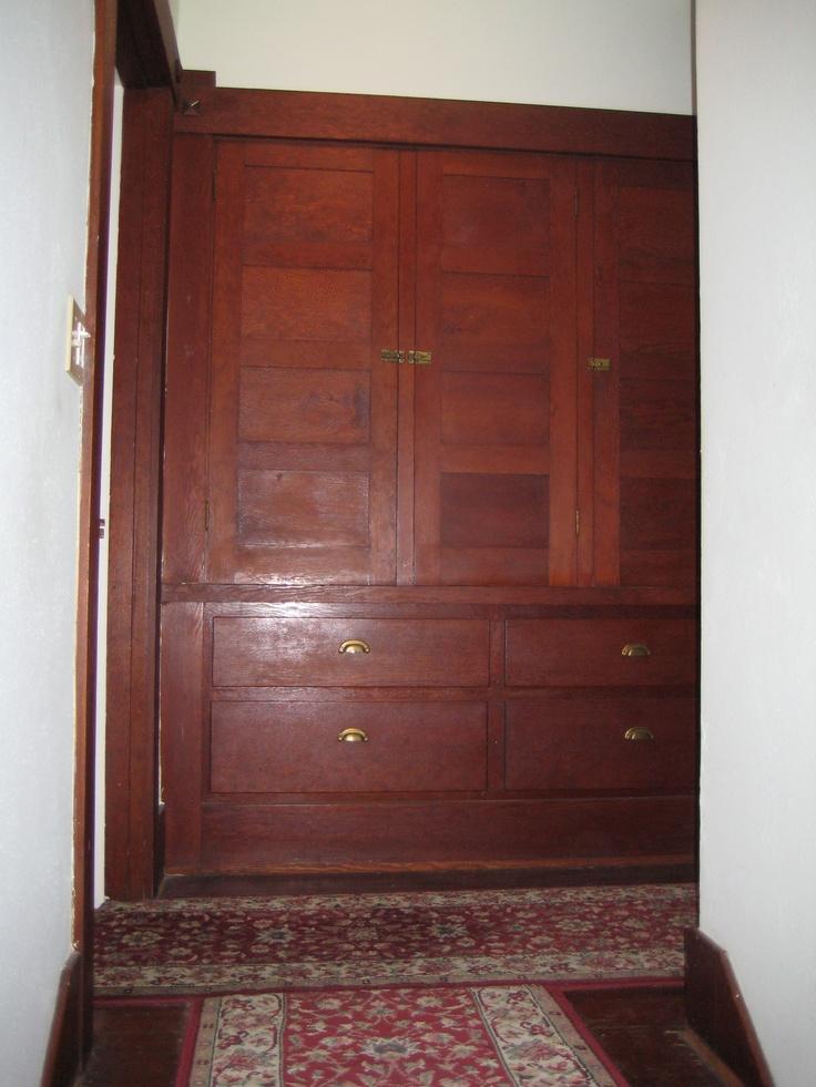 Linen Closet Built In On Second Floor Of Craftsman