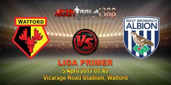 Prediksi Watford Vs West Bromwich Albion, Prediksi Skor Watford Vs West Bromwich Albion, Prediksi Akurat Watford Vs West Bromwich Albion. Partai seru mempertemukan antara Watford Vs West Bromwich Albion pada ajang Liga Inggris pekan ini akan digelar Rabu, 5 April 2017 • Pukul 01:45 WIB langsung dari Vicarage Road Stadium, Watford.