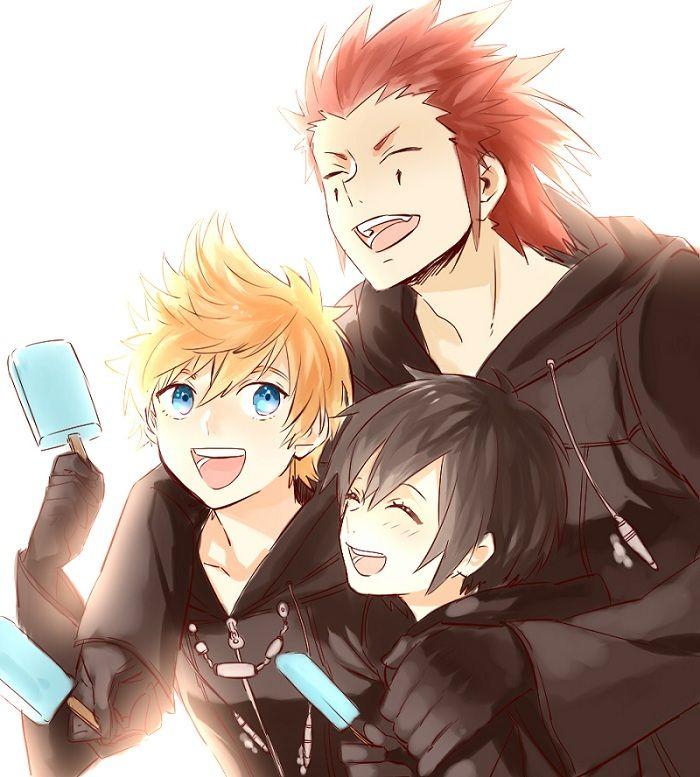 Axel, Xion And Roxas, Kingdom Hearts 358/2 Days