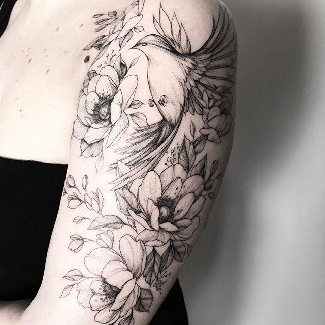 die besten 25 kolibri tattoo schwarz ideen auf pinterest. Black Bedroom Furniture Sets. Home Design Ideas