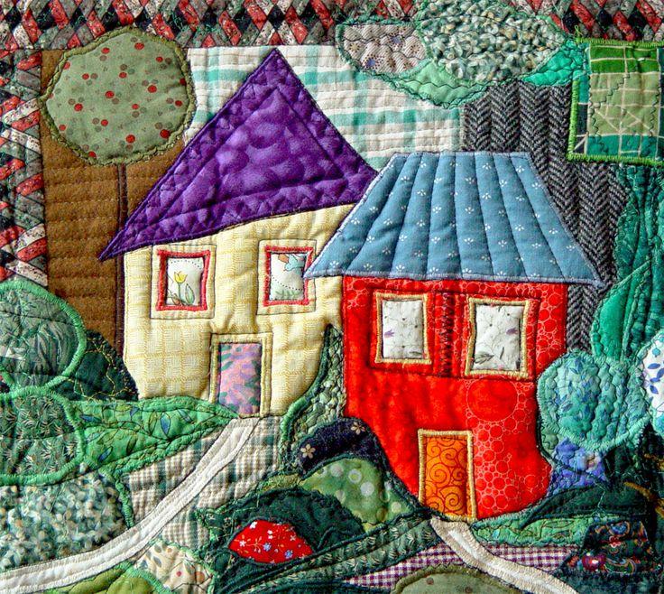 Scene from a village, by Bozena Wojtaszek | The Textile Cuisine (Poland)