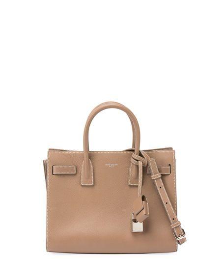 SAINT LAURENT Medium Sac De Jour Tote Bag, Light Gray. #saintlaurent #bags #shoulder bags #hand bags #leather #tote #