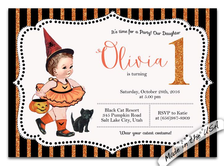 Best Halloween Party Images On Pinterest Halloween Party - Halloween birthday invitations etsy