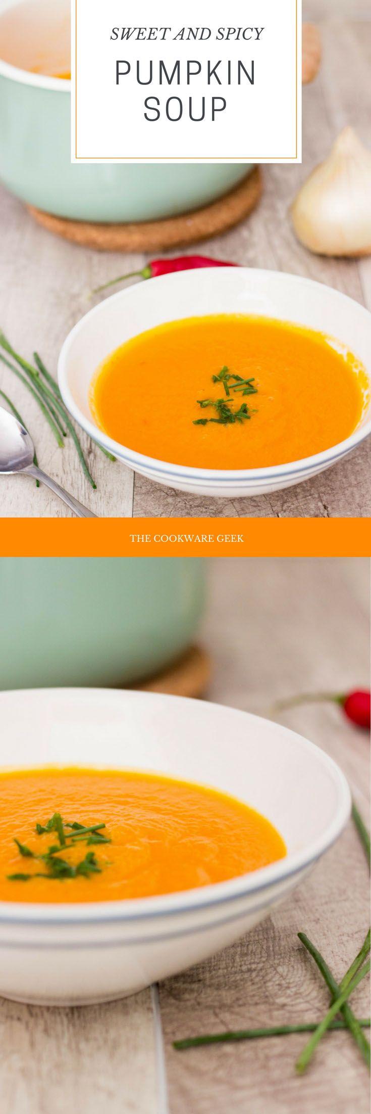 Sweet and Spicy Pumpkin Soup - The Cookware Geek | The Cookware Geek
