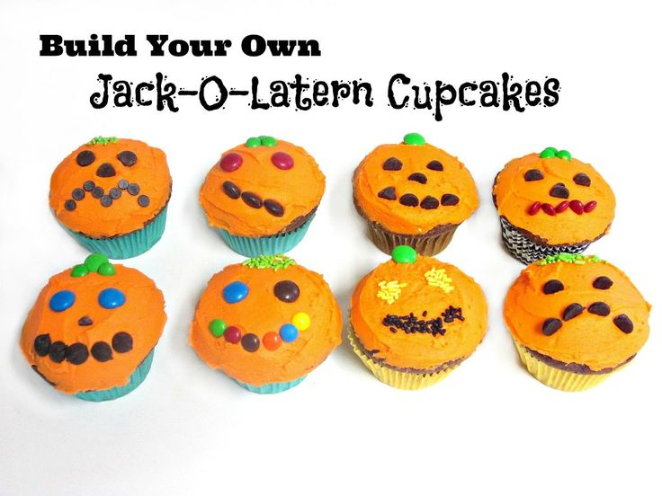 Build Your Own Jack-O-Latern Cupcakes