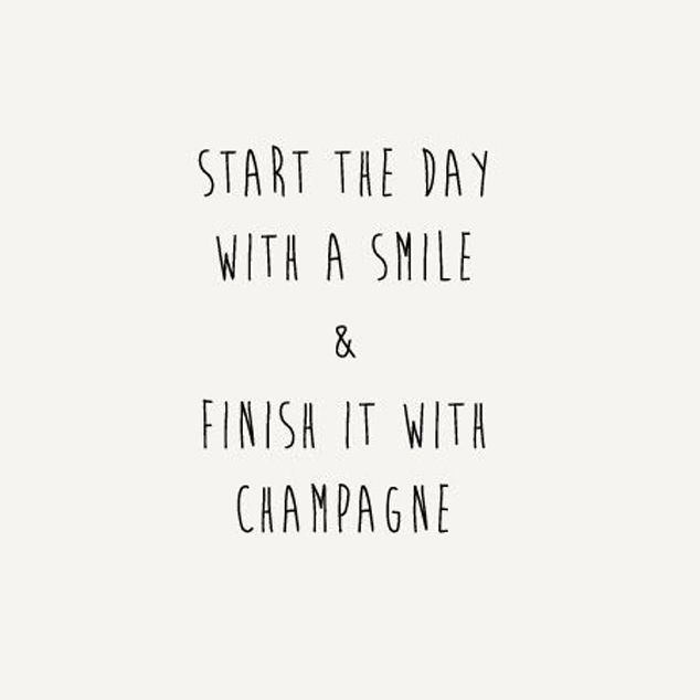 Start with a smile and finish with champagne