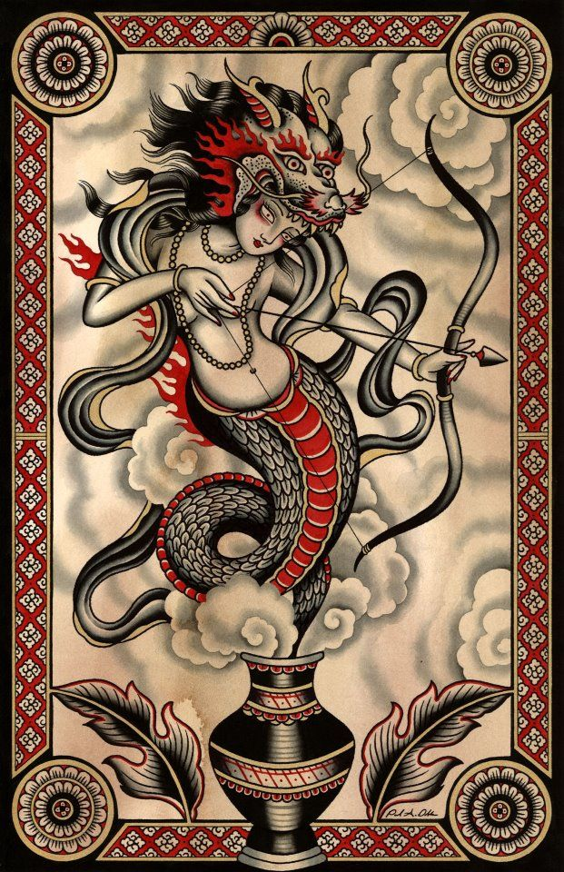 paul dobleman x year of the dragon (Ocidental-Oriental pic. Kind of western tattoo + chinese tradition)