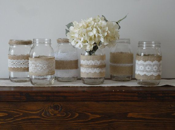 Best 20 lace mason jars ideas on pinterest for Rustic home decor suppliers