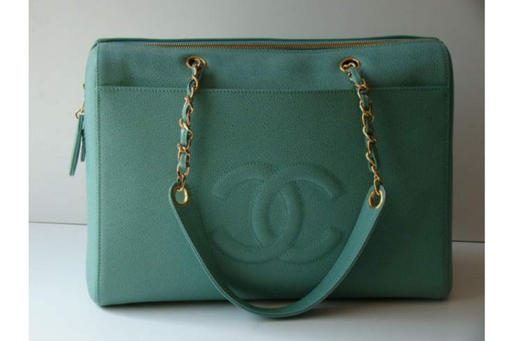 i would give up all of my purses for this one. teal. chanel.