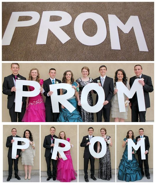 Giant letter props for Prom pictures! Super easy and fun for pictures! Check out blog to see how to make them!