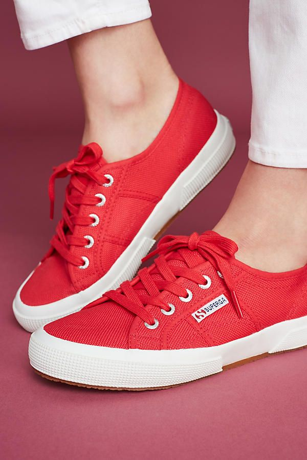 Slide View: 2: Superga Classic Red Sneakers