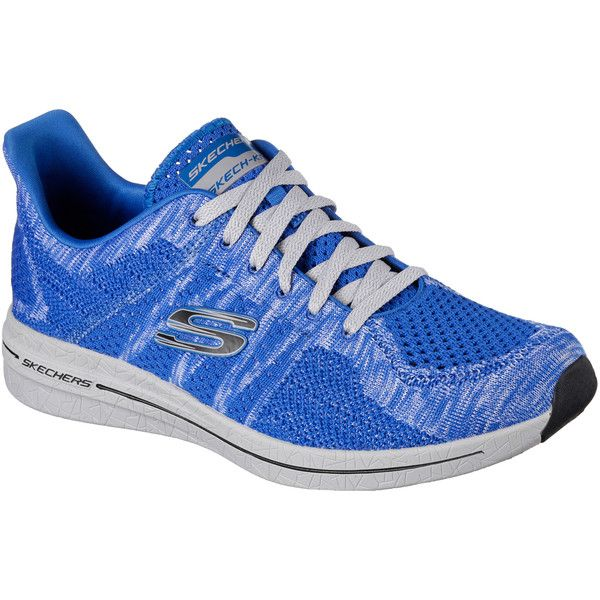 Skechers Men's Burst - Smeeton Blue 12.0 - Skechers Walking Shoes ($65) ❤ liked on Polyvore featuring men's fashion, men's shoes, men's sneakers, blue, mens blue sneakers, mens shoes, mens walking shoes, mens lace up shoes and mens sneakers