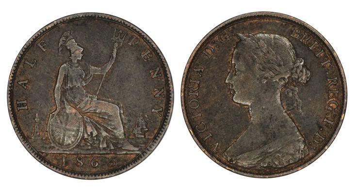 https://flic.kr/p/SejrPT   Half Penny 1863 Great Britain   Bronze Mintage: 15.949.000 Ruler: Victoria