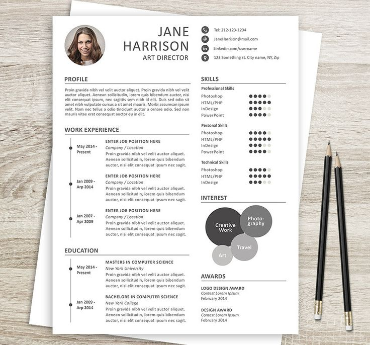 27 Best Etsy Resume Templates   Etsy Cv Templates Images On