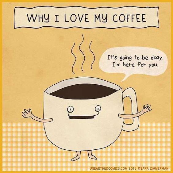 #coffeehelps #coffeehumour, artwork via @UnearthedComics Sara Zimmerman  #coffeeandfridays