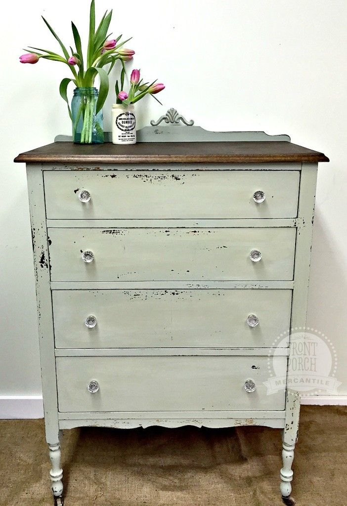 Repainted Dresser With Miss Mustard Seedu0027s Laylau0027s Mint Front Porch  Mercantile