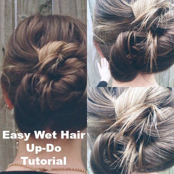 Cute Ways To Do Your Hair When Wet: 17 Best Ideas About Simple Hairdos On Pinterest