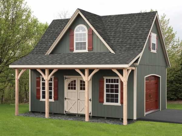 Two story dormer garage sheds pinterest garage for House plans with shed dormers