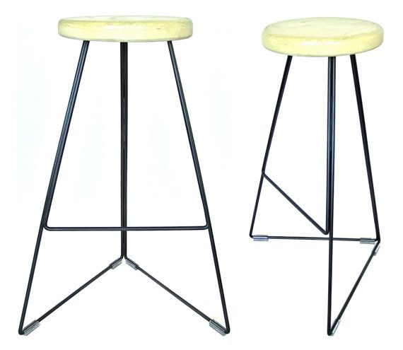 Industrial Concrete Amp Steel Coleman Bar Stool By