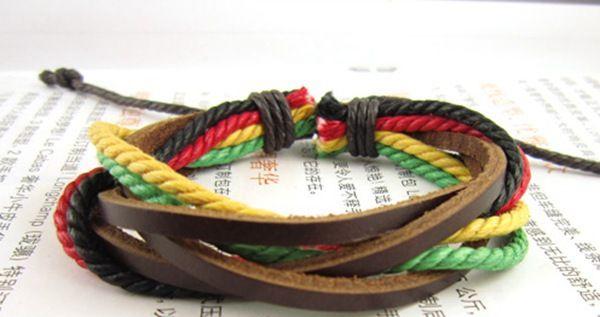 Модный ямайский регги браслет, Боб марли стиль браслет, Хип-хоп аксессуары 2 пк / много