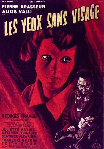 Original poster for EYES WITHOUT A FACE (1960)  Directed by Georges Franju; Starring Alida Valli & Edith Scob