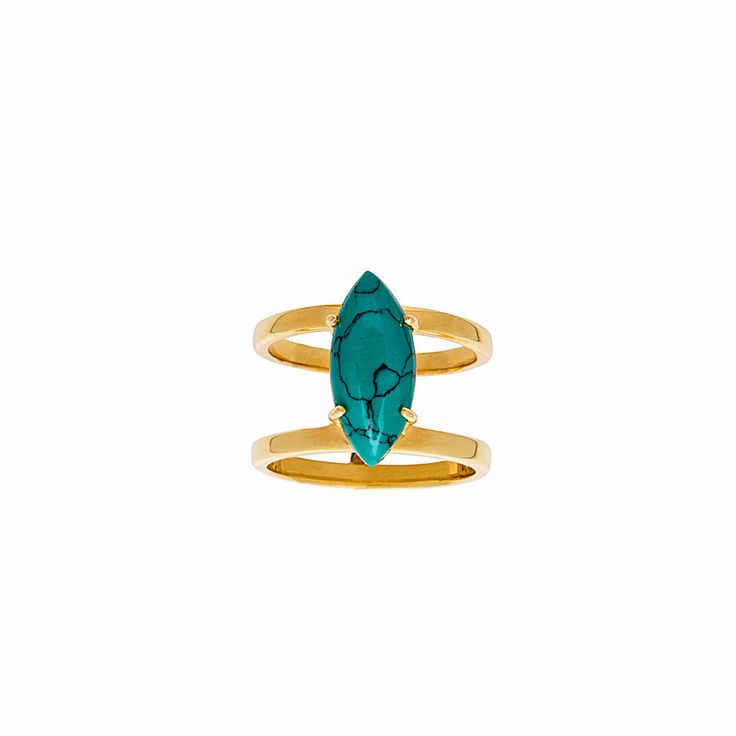 Selena Ring / Turquoise from D A M S E L F L Y