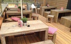 Bauholz Terrassenbestuhlung Für Ihre Gastronomie Terrasse Bänke