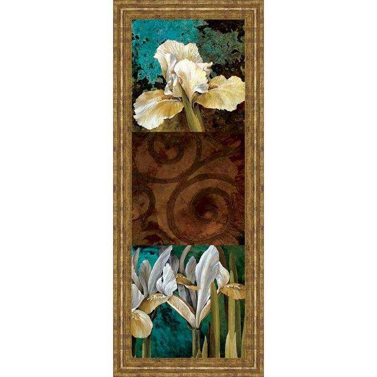 """18 in. x 42 in. """"From My Garden I"""" by Linda Thompson Framed Printed Wall Art"""