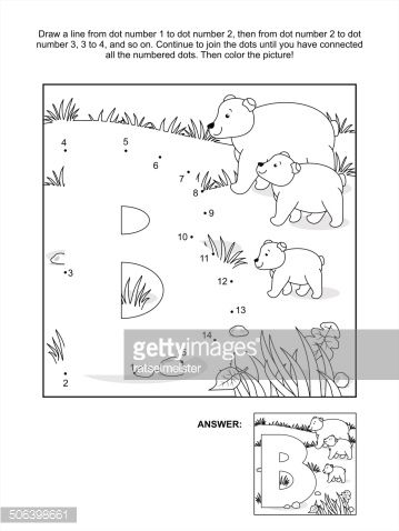 Educational connect the dots picture puzzle and coloring page -...