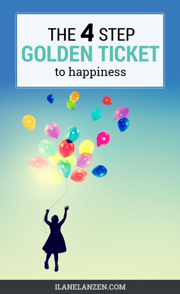 Congratulations! You just won the golden ticket to happiness! All the information you need to be happier is here. All you have to do is grab hold of the ticket, believe in the process, and take the steps laid out here, and you will start to become happier