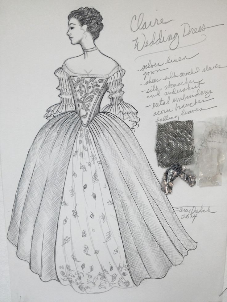 Terrydresbach.com - The Sketch- Claire's wedding gown