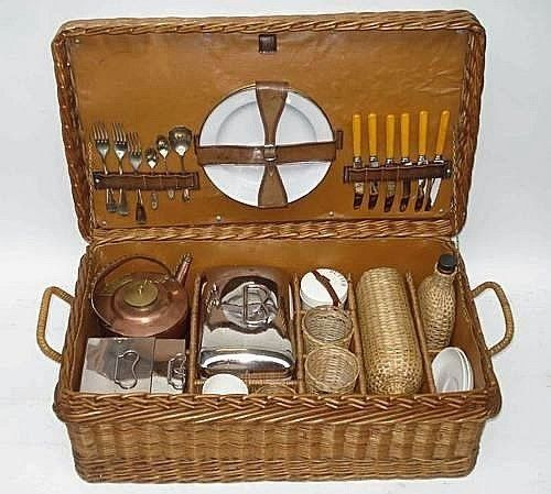 vignette design: Picnic Hampers From Yesteryear