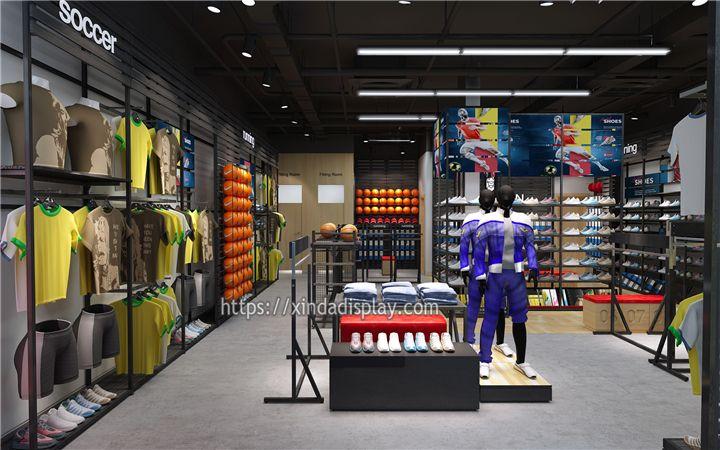 Retail Sports Shop Design Sportswear Store Display Sport Shop Interior Design Retail Store Design Shop Interior Design Design Store