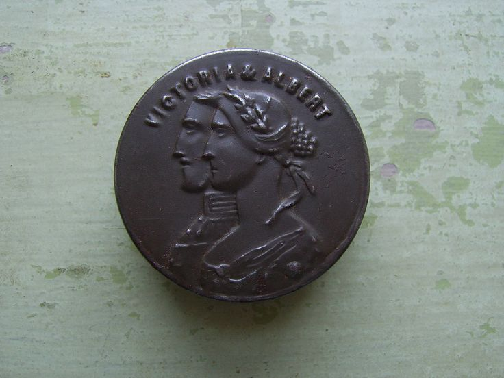 A Rare Antique Tin - Queen Victoria & Prince Albert - Commemorative/Advertising Piece - 1800's. by TownshendsEmporium on Etsy