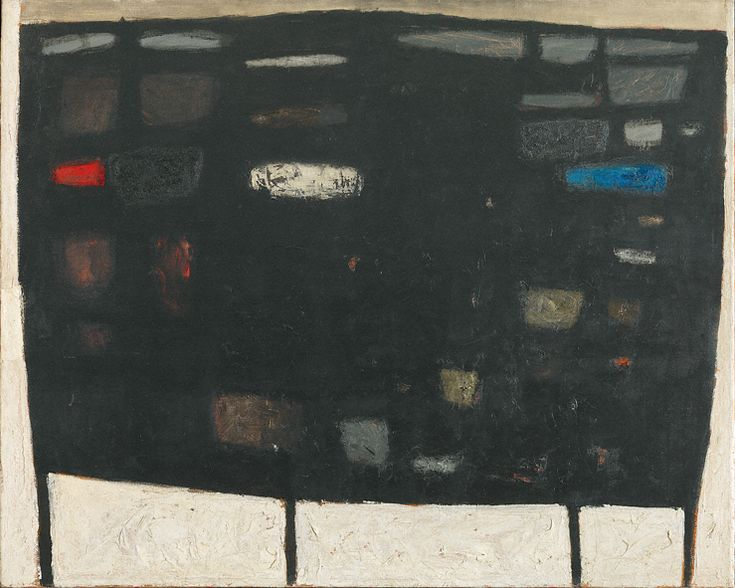 William Scott, Black Painting, 1958, Oil on canvas, 122.7 × 153 cm / 48¼ × 60¼ in, Tate, London