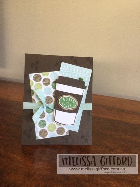 Melissa Gifford | Coffee Cafe card class | Stampin' Up!