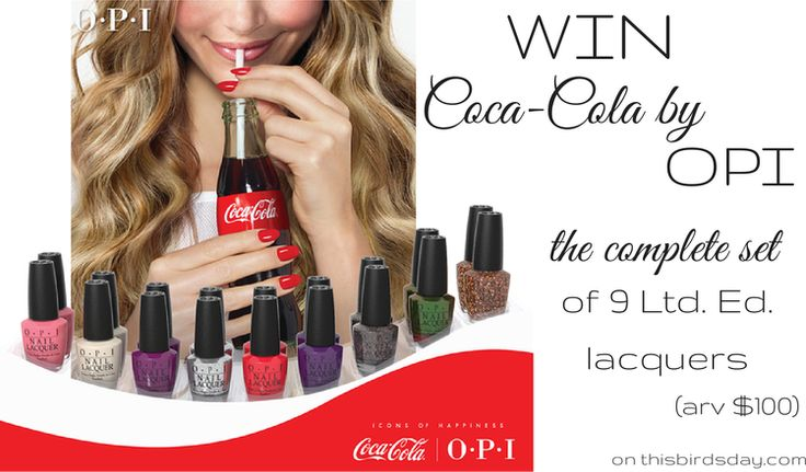 Giveaway for Canadians at http://www.thisbirdsday.com/giveaway-opi-brazil/